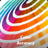 Apparel priting color accuracy