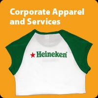 Corporate apparel screen printing embroidery