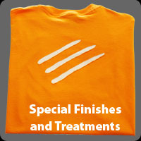 Apparel priting special finishes